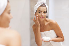 Caring of the skin Stock Photo