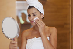 Caring of the skin Stock Photos
