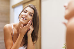 Caring of the skin Royalty Free Stock Photos