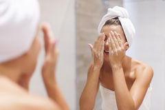 Caring of the skin Royalty Free Stock Images