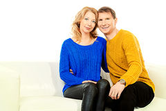 Caring wife Royalty Free Stock Photography