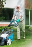 Caring about your lawn stock photo