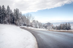 Carinthia Winter Mountain Road Royalty Free Stock Photo
