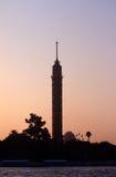Cario torn, Zamalek ö, Cario, Egypten Royaltyfri Fotografi