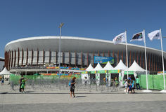Carioca Arena 3 at the Olympic Park in Rio de Janeiro. RIO DE JANEIRO, BRAZIL - AUGUST 13, 2016: Carioca Arena 3 at the Olympic Park in Rio de Janeiro. The royalty free stock images
