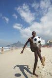 Carioca Brazilian Playing Altinho Futebol Beach Soccer Football Royalty Free Stock Image