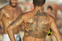 Carioca Brazilian Playing Altinho Futebol Beach Soccer Football Stock Photography
