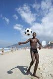 Carioca Brazilian Playing Altinho Futebol Beach Soccer Football Stock Photo