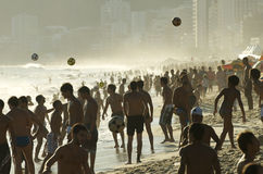 Carioca Brazilians Playing Altinho Beach Football Stock Photos