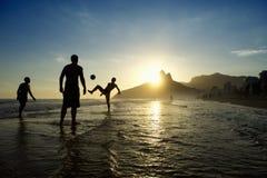 Carioca Brazilians Playing Altinho Beach Football Rio Stock Images