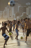 Carioca Brazilians Playing Altinho Futebol Beach F Stock Image