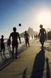 Carioca Brazilians Playing Altinho Futebol Beach Football Stock Photo