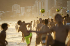 Carioca Brazilians Playing Altinho Futebol Beach Football Stock Photography