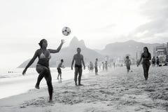 Carioca Brazilians Playing Altinho Futebol Beach Soccer Football Royalty Free Stock Photos