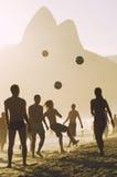 Carioca brazylijczycy Bawić się Altinho Futebol plaży futbol Obraz Royalty Free