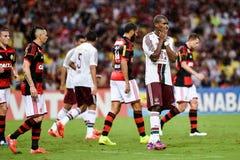 Carioca champioship. RIO DE JANEIRO, RJ/Brazil - april 05, 2015 Royalty Free Stock Photos