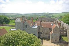 Carisbrooke Castle 6. View over the castle from the top of the keep. Isle of Wight England Royalty Free Stock Photography