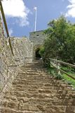 Carisbrooke Castle 7. Steps leading up to the Keep at Carisbrooke Castle Isle of Wight England Stock Images