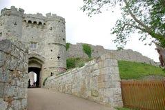 carisbrooke zamku zdjęcie stock