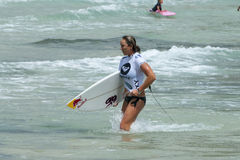 Carissa Moore - Roxy Pro 2011 Royalty Free Stock Photography
