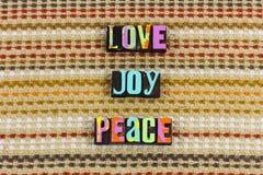 Carità di speranza di pace di gioia di amore fotografie stock