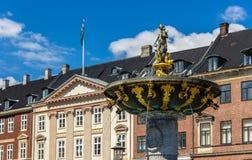 Free Caritas Fountain On Gammeltorv In Copenhagen, Denmark Stock Image - 42250611