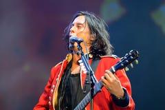 Carl Barat, Sänger und Gitarrist der Wüstlinge (Rockband) führt an FLUNKEREI Festival durch Lizenzfreies Stockbild