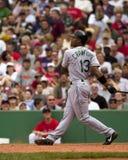 Carl Crawford, giocatore dell'area outfield dei devil rays di Tampa Bay Fotografia Stock