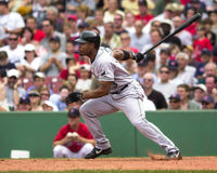 Carl Crawford, outfielder do Devil Rays de Tampa Bay Imagem de Stock