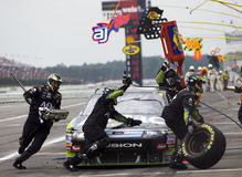 Carl Edwards comes in for a pit stop Royalty Free Stock Photos