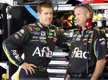 Carl Edwards and crew chief Bob Osborne Royalty Free Stock Photos