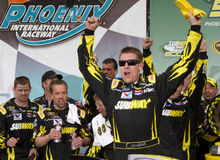 De Bestuurder Carl Edwards van de Kop van de Sprint NASCAR Royalty-vrije Stock Afbeeldingen