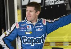 Carl Edwards in der Garage Lizenzfreies Stockfoto