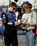 Carl Edwards NASCAR chaufför royaltyfria foton