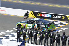 Carl Edwards Winning Back flip Stock Image