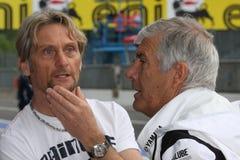 Carl Fogarty e Giacomo Agostini immagini stock libere da diritti