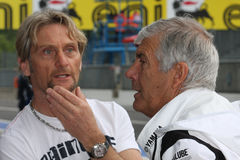 Carl Fogarty and Giacomo Agostini Royalty Free Stock Images