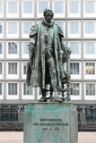 Carl Friedrich Petersen statue in Hamburg. Stock Photo