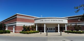 Carl Grant Events Center at Union University in Jackson, Tennessee. Union University is a private, evangelical Christian, liberal arts university located in Royalty Free Stock Photo