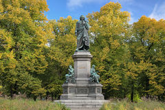 Carl Linnaeus Monument in Stockholm, Sweden Stock Photos