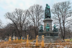 Carl Linne Monument in Humlegarden Stockholm Royalty Free Stock Images