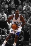 Karl Malone Utah Jazz. Carl Malone of the Utah Jazz looking to pass the Basketball to the open man.n This photo is a spotlight photo stock images