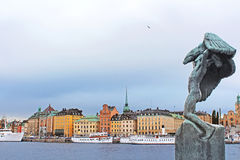 Carl Milles' Vingarna (Wings) sculpture, Stockholm, Sweden Stock Photography