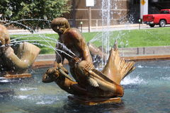 Carl Milles Water Fountain Sculpture, St. Louis Royalty Free Stock Photos