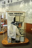 Carl Perkins exhibit at the West Tennessee Delta Heritage Center and Museum royalty free stock photo