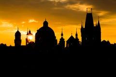 Charles Bridge Sunrise Stock Photography