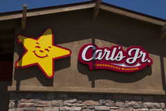 Carl's Jr. Fast Food Restaurant Stock Photos