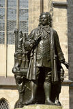 Carl Seffner's 1908 statue of Johann Sebastian Bach in Leipzig. Leipzig, Germany – April 8, 2016. Carl Seffner's 1908 statue of Johann Sebastian Bach in Royalty Free Stock Photography