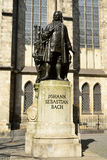 Carl Seffner's 1908 statue of Johann Sebastian Bach in Leipzig. Leipzig, Germany – April 8, 2016. Carl Seffner's 1908 statue of Johann Sebastian Bach in Royalty Free Stock Photos
