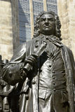 Carl Seffner's 1908 statue of Johann Sebastian Bach in Leipzig. Leipzig, Germany – April 8, 2016. Carl Seffner's 1908 statue of Johann Sebastian Bach in Royalty Free Stock Photo